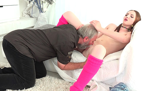 Tyna has hardcore sex with nasty old fart