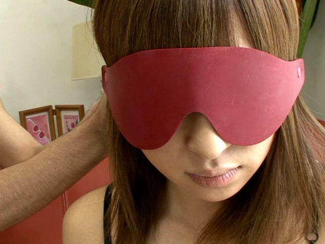 Chesty Japan girl in sexy lingerie Yuu Mizuki gets eye folded and teased
