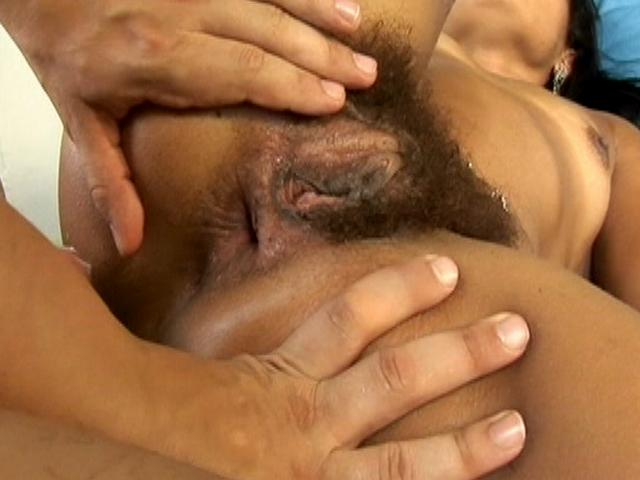 Thais is getting her hairy snatch drilled